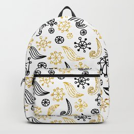 Golden Decorated Christmas Pattern 1 Backpack
