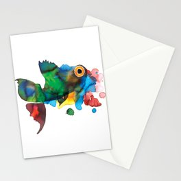 colorful fish Stationery Cards