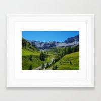 switzerland Framed Art Prints featuring Switzerland by Claudio Del Luongo