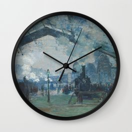 Claude Monet - Arrival of the Normandy Train Wall Clock