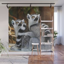 Ring-Tailed Lemurs Wall Mural
