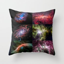 NASAs Spitzer Space Telescope celebrated its 12th anniversary with a new digital calendar showcasing Throw Pillow