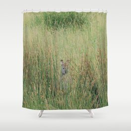 Playing hide and seek Shower Curtain