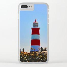 Happisburgh Lighthouse portrait Clear iPhone Case
