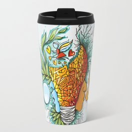 Water Fire Nature Human Illustration - Graphic Design Travel Mug