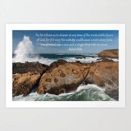 A Single Drop Into An Ocean Art Print