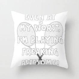 Tennis Lifestyle awesome present Throw Pillow