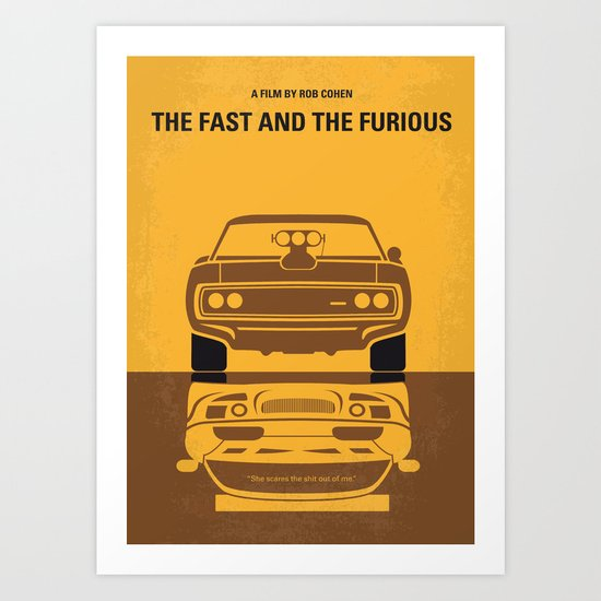 No207 My The Fast and the Furious minimal movie poster Art Print