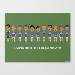 Sampdoria 90-91 Canvas Print