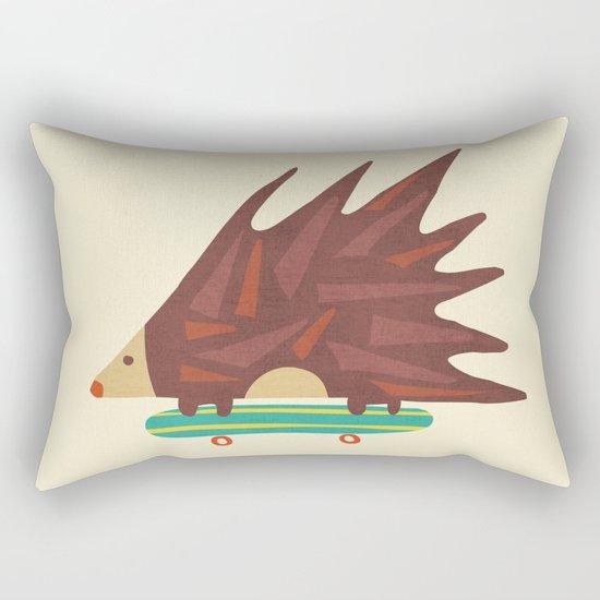 Hedgehog in hair raising speed Rectangular Pillow
