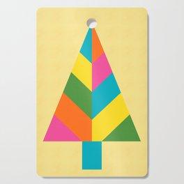 Retro Christmas Tree in Yellow Cutting Board
