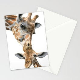 Mother And Baby Giraffe Stationery Cards