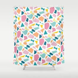 Jumpy -- abstract geometric preppy pastel bright pattern modern minimalist Shower Curtain