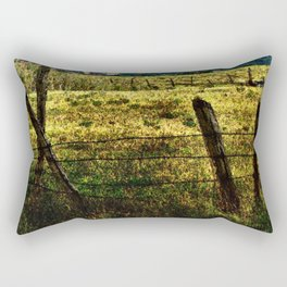 Old Fences Tell A Tale #2 Rectangular Pillow