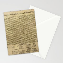 Declaration of Independence Stationery Cards