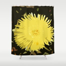 Iceplant Abstract Shower Curtain