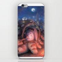 ghibli iPhone & iPod Skins featuring Ghibli Sleepover by KehChoonWee