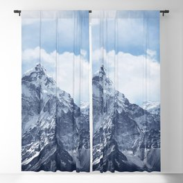 Snowy Mountain Peaks Blackout Curtain