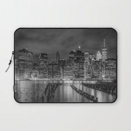 NEW YORK CITY Monochrome Night Impressions | Panoramic Laptop Sleeve