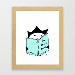 Fella Loves a Good Book Framed Art Print