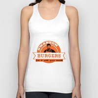 swanson Tank Tops featuring Swanson Burgers by ThePencilClub