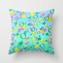 Abstract colorful bubbles 170 Throw Pillow