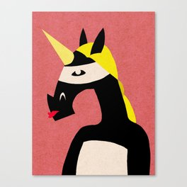 Masked Unicorn V04 Canvas Print