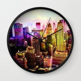 RainBow New York Wall Clock