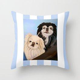 Peke Tootise and Manny Throw Pillow