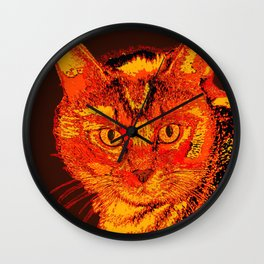 Orange Tabby Wall Clock
