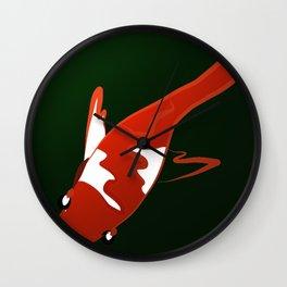 Koi and Green Wall Clock