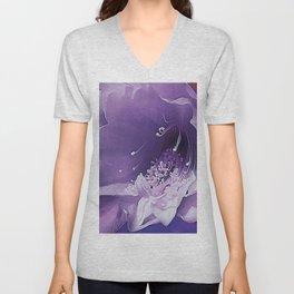 Cactus Orchid Indigo Touch Unisex V-Neck