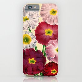 Vintage Primrose Print iPhone Case