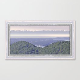 OLYMPIC RANGE AS SEEN FROM ORCAS ISLAND OVER MOUNT ENTRANCE Canvas Print