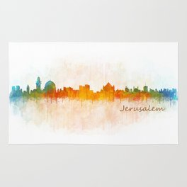 Jerusalem City Skyline Hq v3 Rug