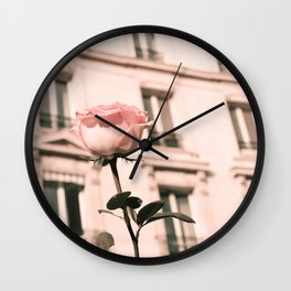 Paris in Blush Pink II Wall Clock