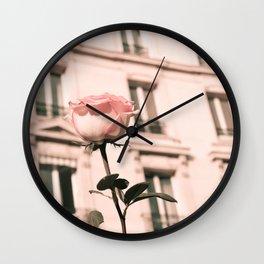 Paris in Blush Pink II Wall Clock