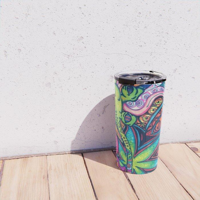 Trippy Weed Travel Mug