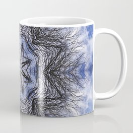 Branches, clouds and sky kaleidoscope Coffee Mug