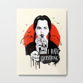 Wednesday The Addams family art Metal Print