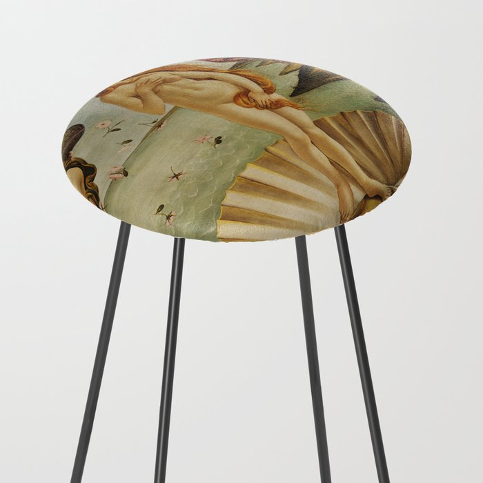 The Birth of Venus by Sandro Botticelli Counter Stool
