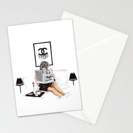 Relax reading Stationery Cards