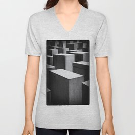 Holocaust Memorial, Berlin Unisex V-Neck