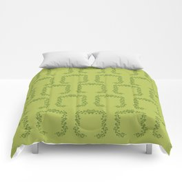 Happy St. Patrick's Day! (clovers) Comforters