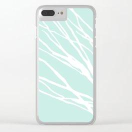 Aqua Blues Clear iPhone Case