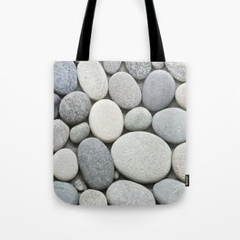 Grey Beige Smooth Pebble Collection Tote Bag