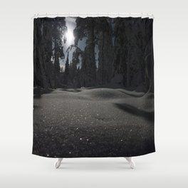 Diamond Snow Shower Curtain