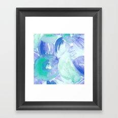 Turquoise Florals Framed Art Print