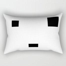 Face number three Rectangular Pillow