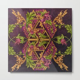 Celtic Triskels and Baroque Ornamentals Metal Print